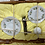 Thumbnail: Child's vintage tea set in wicker basket