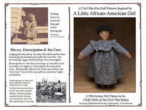 Little African- American girl cloth doll pattern