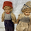 Thumbnail: Late 1920's Dutch boy and girl composite dolls