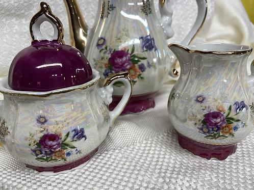 Antique child's Tea Set (1950) luster ware