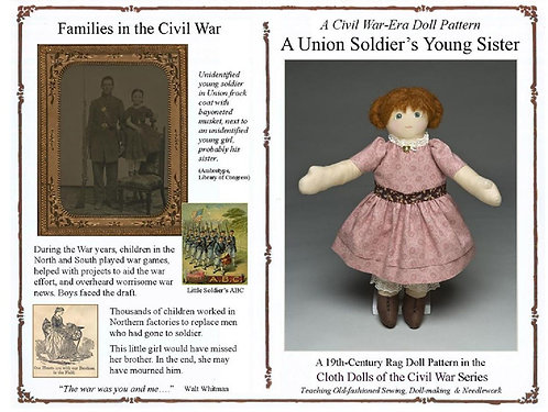 A Union Soldier's Young Sister cloth doll pattern