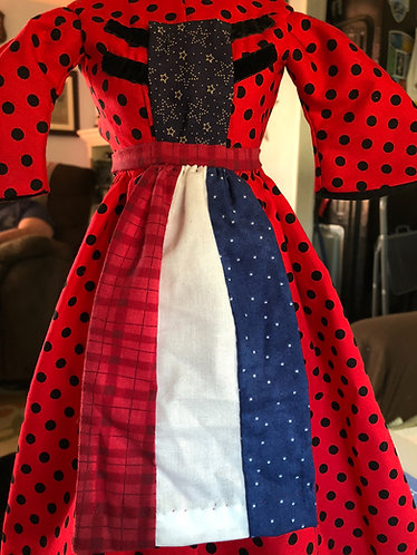 "Patriotic Aprons for 18"" Dolls"
