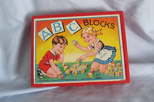 1950 ABC Blocks and Puzzle Box