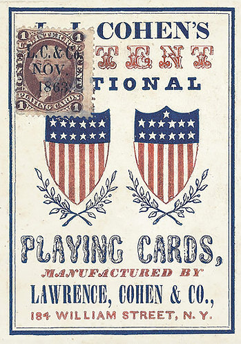 Civil War Playing cards 1863 reproduction