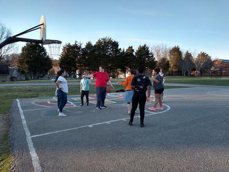 Teens enjoying Basketball!