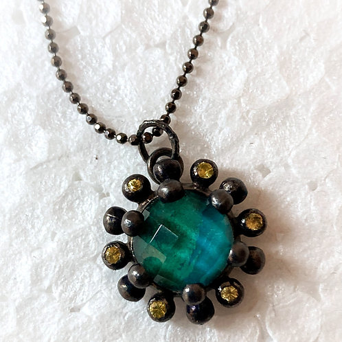 Collier pendentif chrysocolla