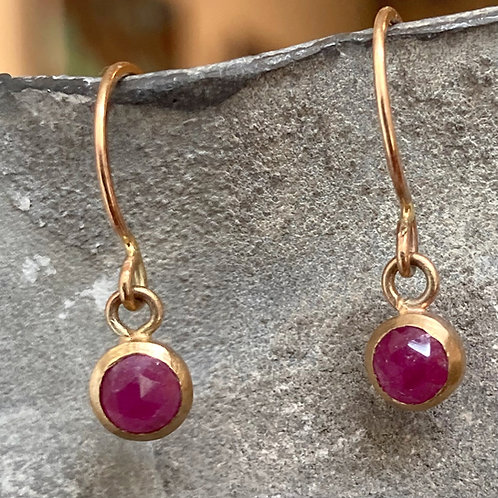 Boucles d'oreilles Worn rubis