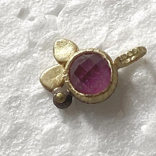 Collier pendentif rubis