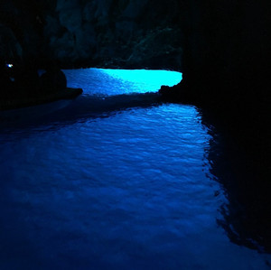 Les grottes bleue