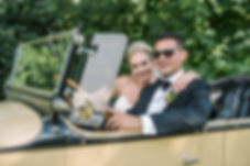 Nancy & Anthony in vintage car August 12