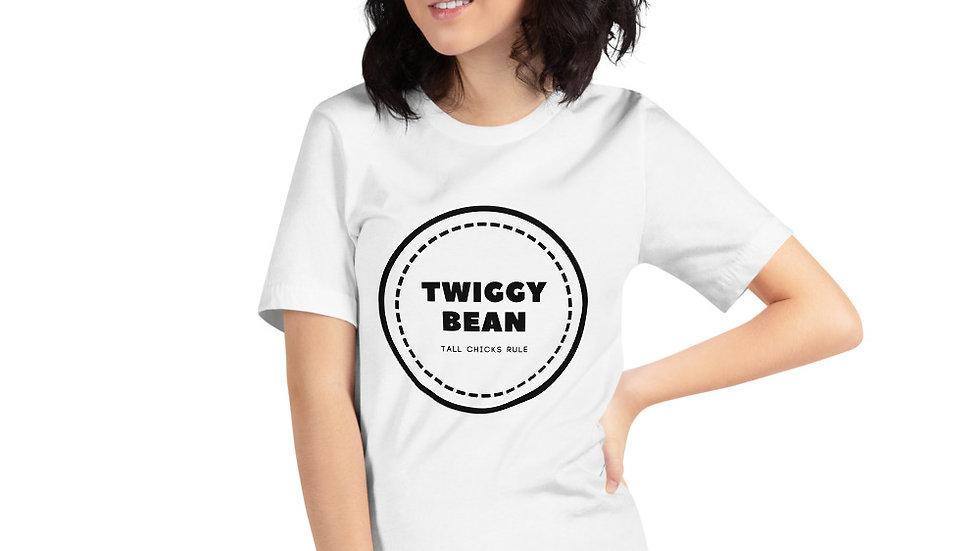 Twiggy Bean Bullseye Logo Short-Sleeve Lady T-Shirt