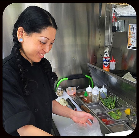 Chef Kazumi doing what she does best.