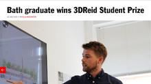 Bath graduate wins 3DReid Student Prize