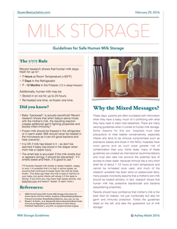 Milk Storage Guidelines