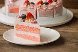 White chocolate strawberry yogurt cake d