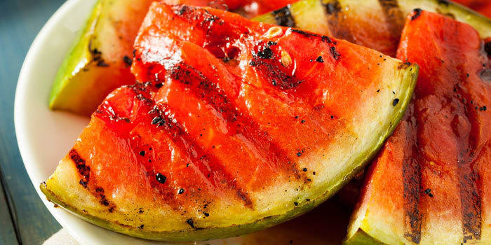 Lipstick and Lunges - Grilled Watermelon Wedges