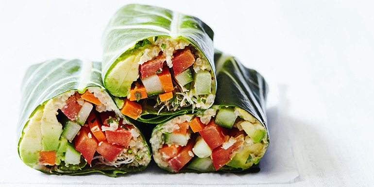 Lipstick And Lunges - 1 Day Fix lunch recipes - Crispy Veggie Wraps