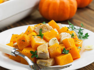 Chicken Baked with Pumpkin (only 182 calories)