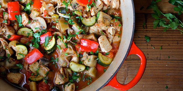 Lipstick And Lunges - Chicken Cacciatore - 21 Day Fix dinner recipes