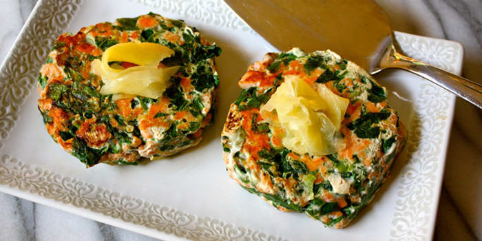 Lipstick And Lunges - Diet Meal Plans - Spinach Salmon Patties