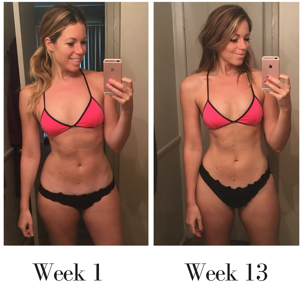 Lipstick and Lunges - 80 Day Obsession - Before and after