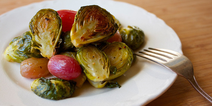 Lipstick And Lunges - Brussels Sprouts With Roasted Grapes - 21 Day Fix recipes