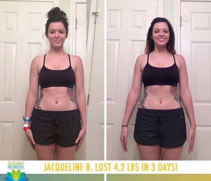 Jacqueline: 3-Day Refresh Results