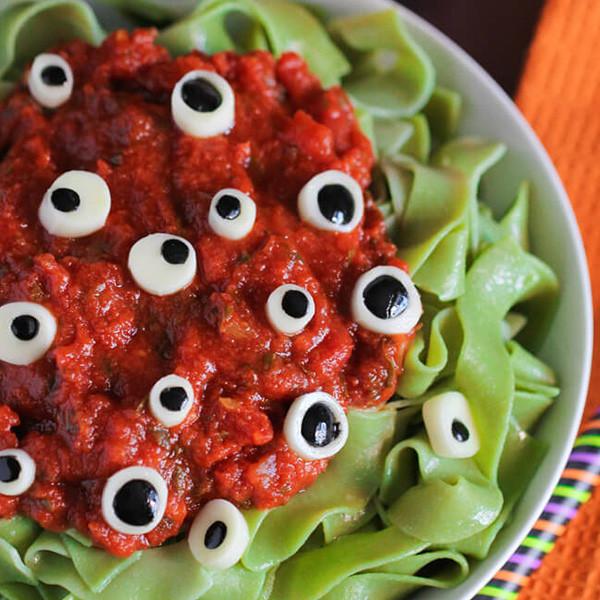 Halloween Eyeball Pasta