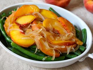 Peach and Green Bean Salad