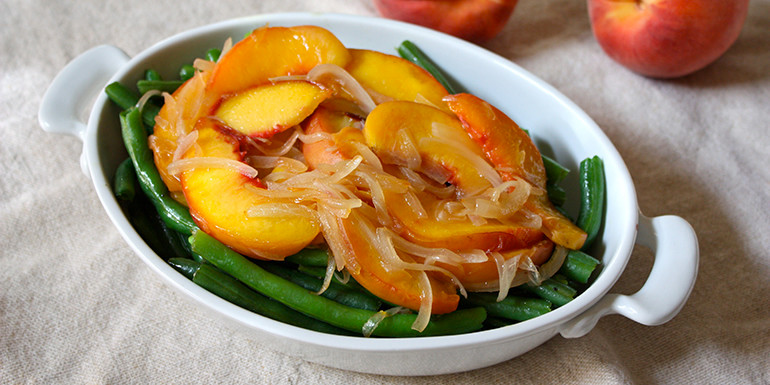 21 Day Fix Recipe : Peach and Green Bean Salad