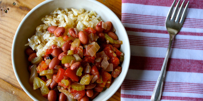 Lipstick and Lunges - Slow Cook Beans and Rice