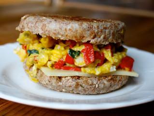 Mozzarella and Egg Breakfast Sandwich