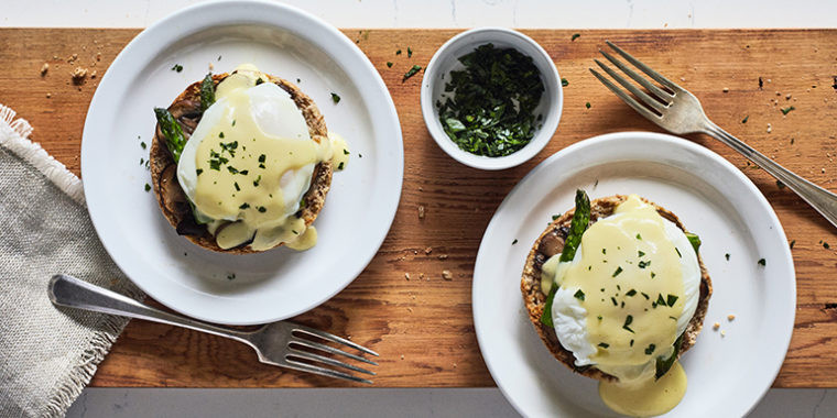 Lipstick And Lunges - 21 Day Fix Breakfast Recipes - Vegetarian Eggs Benedict