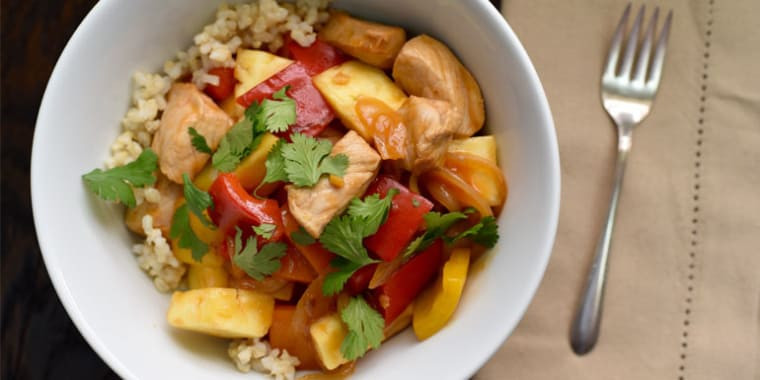 Lipstick And Lunges - 21 Day Fix recipes - Sweet and sour chicken
