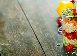 Quinoa Chicken Salad in a Mason Jar