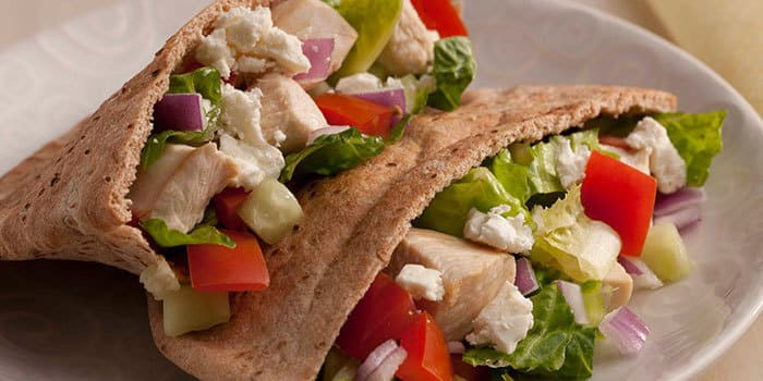 Lipstick And Lunges - Diet Meal Plans - Greek Chicken Pita