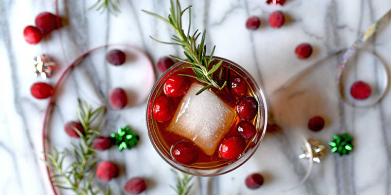 Lipstick And Lunges - Holiday Cranberry Fizz