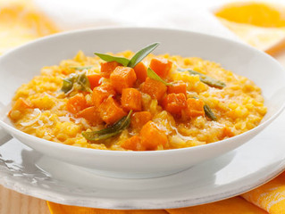 Pumpkin Risotto with Garlic and Sage