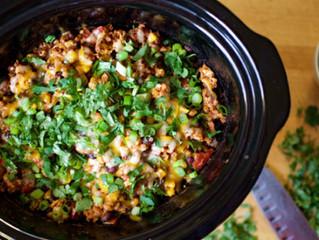 Slow Cooker Cheesy Chicken Enchiladas