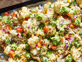 Cheesy Cauliflower Nachos