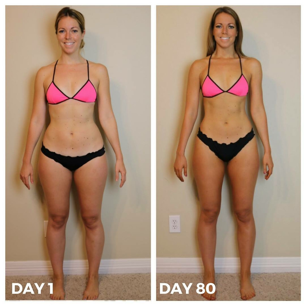 Lipstick and Lunges - 80 Day Obsession results - 80 Day Obsession before and after results