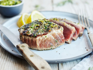 Herb and Garlic Grilled Tuna Steaks