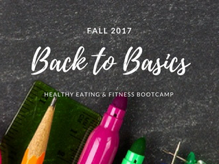 Back to School, Back to Basics Challenge