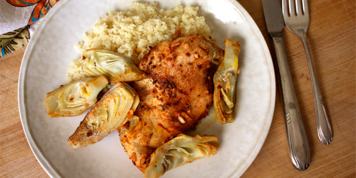 21 Day Fix recipe Baked Moroccan Chicken