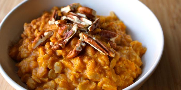 21 Day Fix approved recipe - Pumpkin Pie Oatmeal