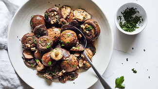 Crock Pot Garlic & Herb Mushrooms
