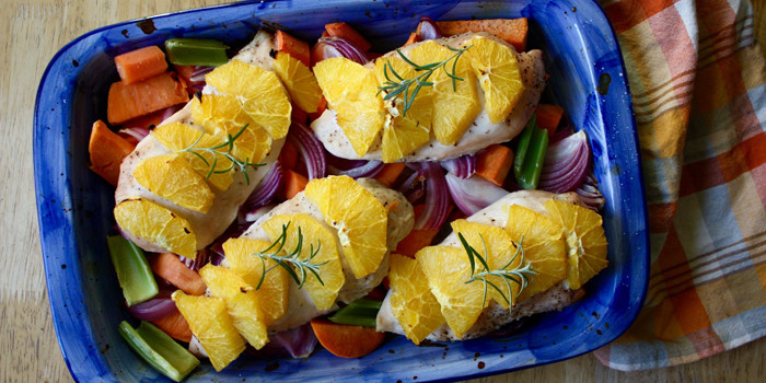 Lipstick and Lunges - 21 Day Fix recipes - Baked Chicken Dinner