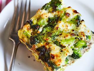Spinach and Broccoli Strata