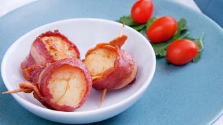 Turkey Bacon Wrapped Scallops