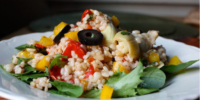 Lipstick and Lunges - Brown Rice and Veggies - 21 Day Fix recipes